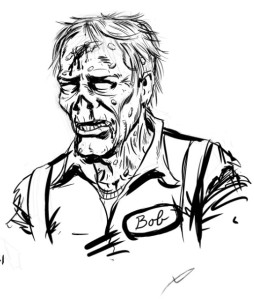Bob Gas Station Attendant Zombie by Tim Holtrop